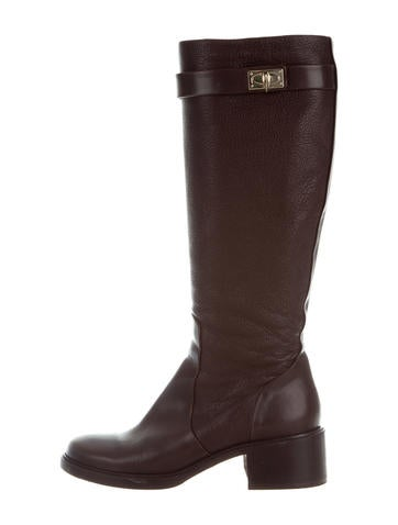 givenchy leather shark tooth knee high boots shoes