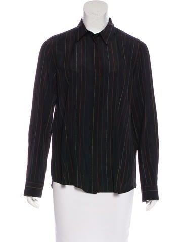 Givenchy Pinstripe Silk Top None