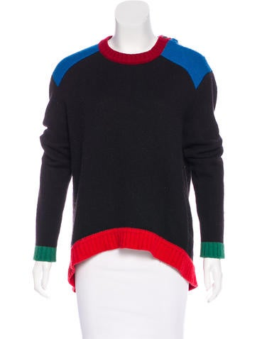 Givenchy Wool Colorblock Sweater None