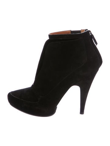 Givenchy Suede Platform Booties None