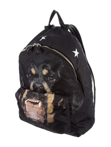 Givenchy Rottweiler Leather-Trimmed Backpack - Bags - GIV44143  b854bc0afba10