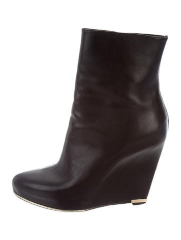 Givenchy Leather Wedge Boots None