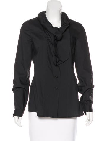 Givenchy Gathered Button-Up Top None