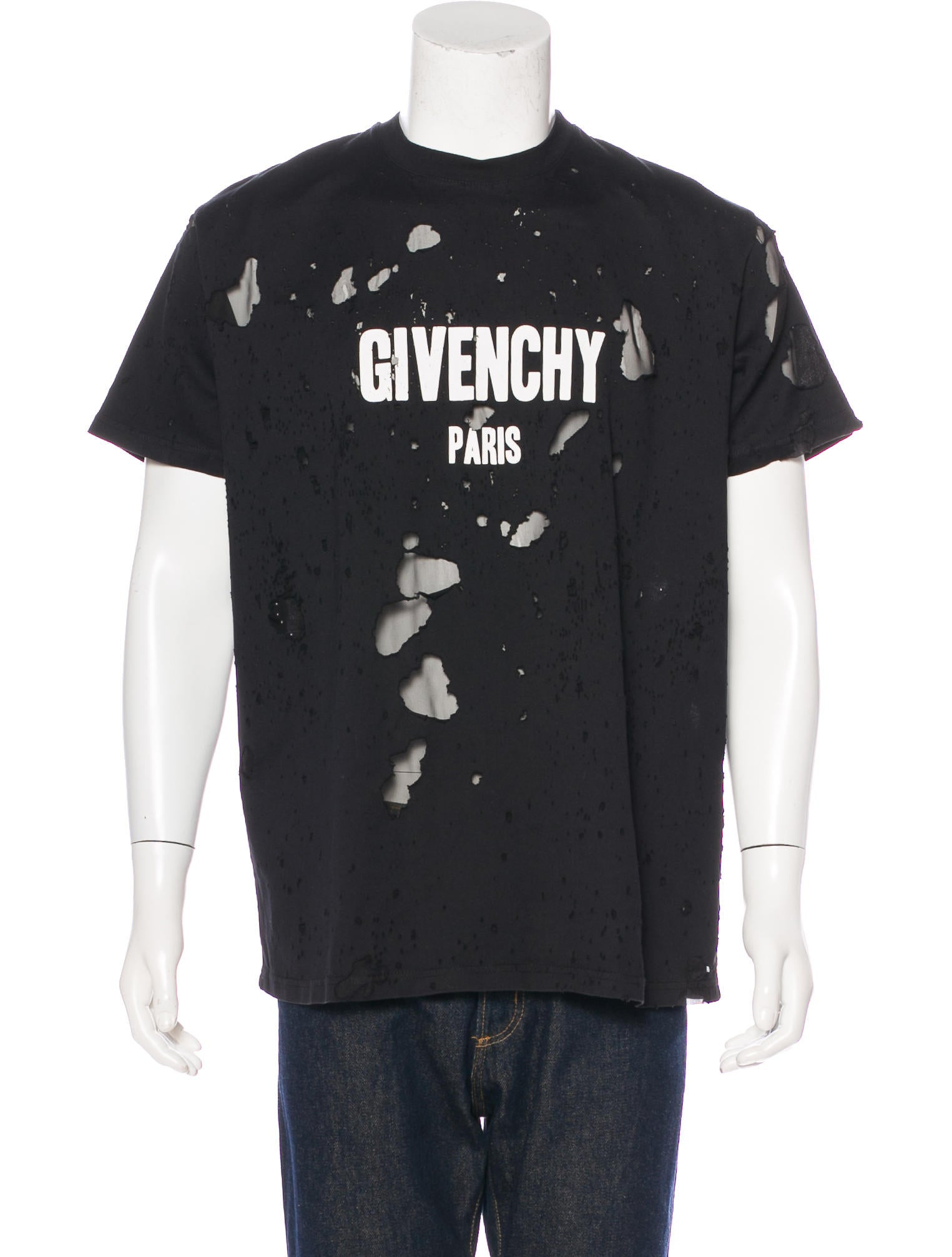 Givenchy 2017 destroyed logo t shirt clothing giv44399 Givenchy t shirt price