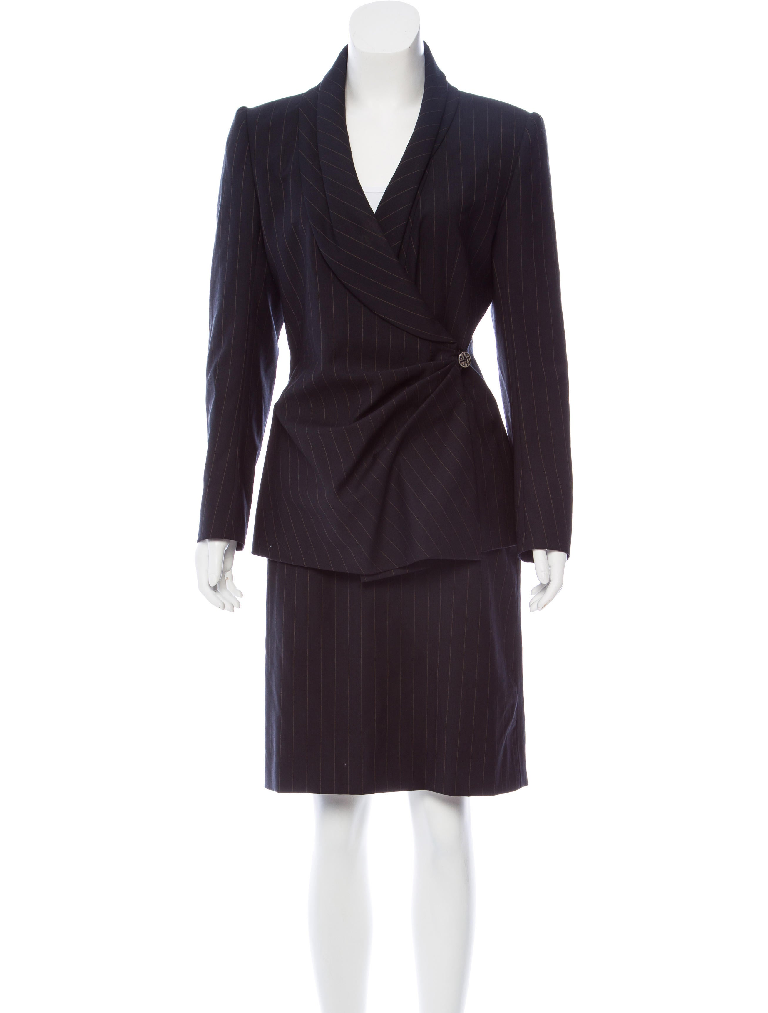 Givenchy Vintage Pinstriped Skirt Suit Clothing  : GIV444201enlarged from www.therealreal.com size 2613 x 3447 jpeg 267kB