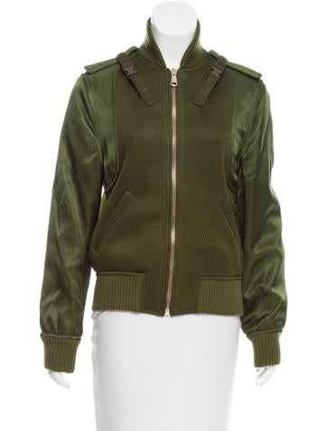 Givenchy Mesh-Accented Bomber Jacket None