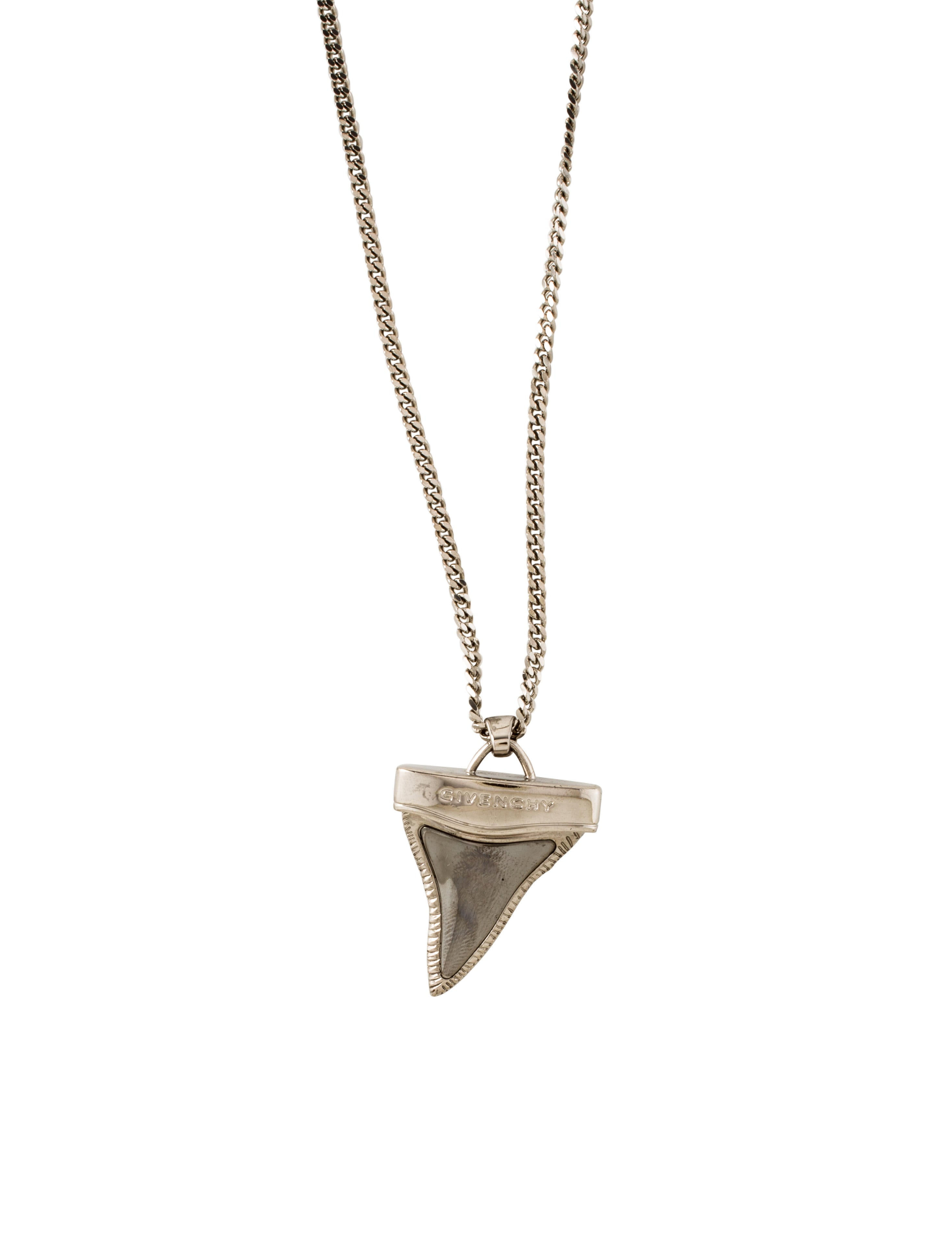 givenchy shark tooth pendant necklace necklaces