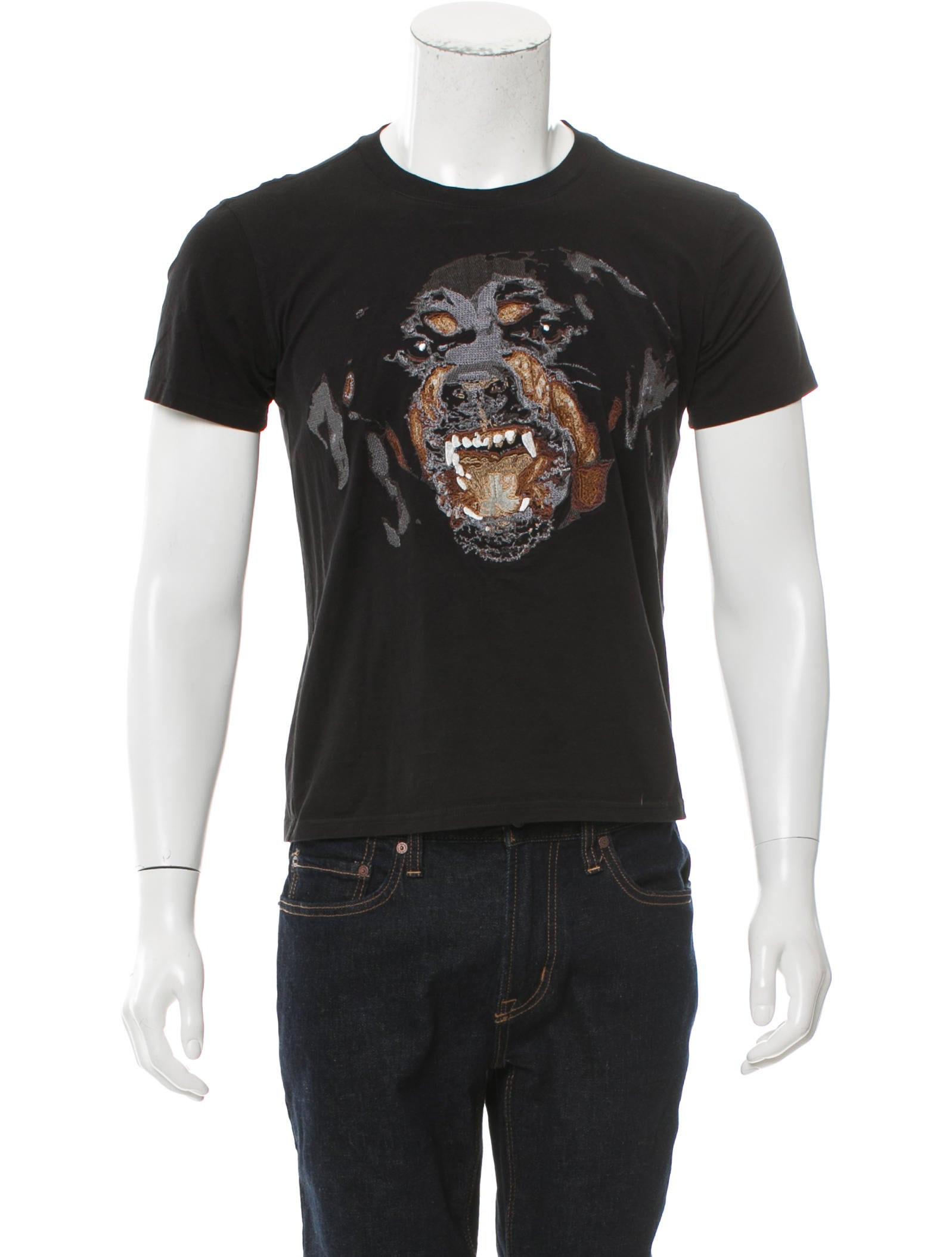 Givenchy 2015 embroidered rottweiler t shirt clothing Givenchy t shirt price