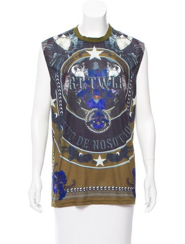 Givenchy Graphic Printed Sleeveless Top None