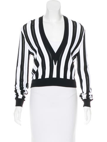 Givenchy Stripe Knit Top None
