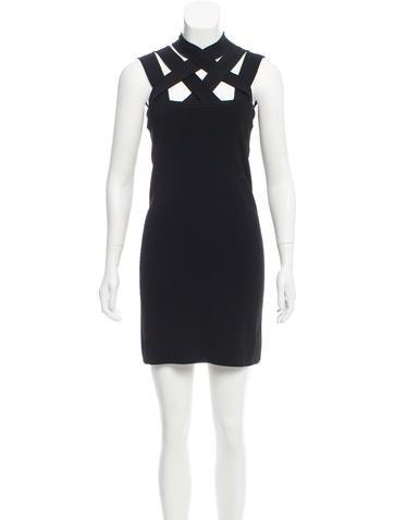 Givenchy Basketweave Bodycon Dress None