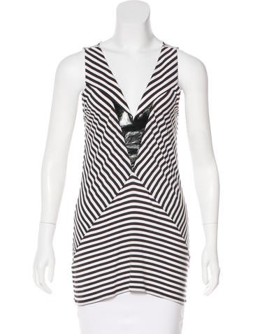 Givenchy Sleeveless Striped Top None