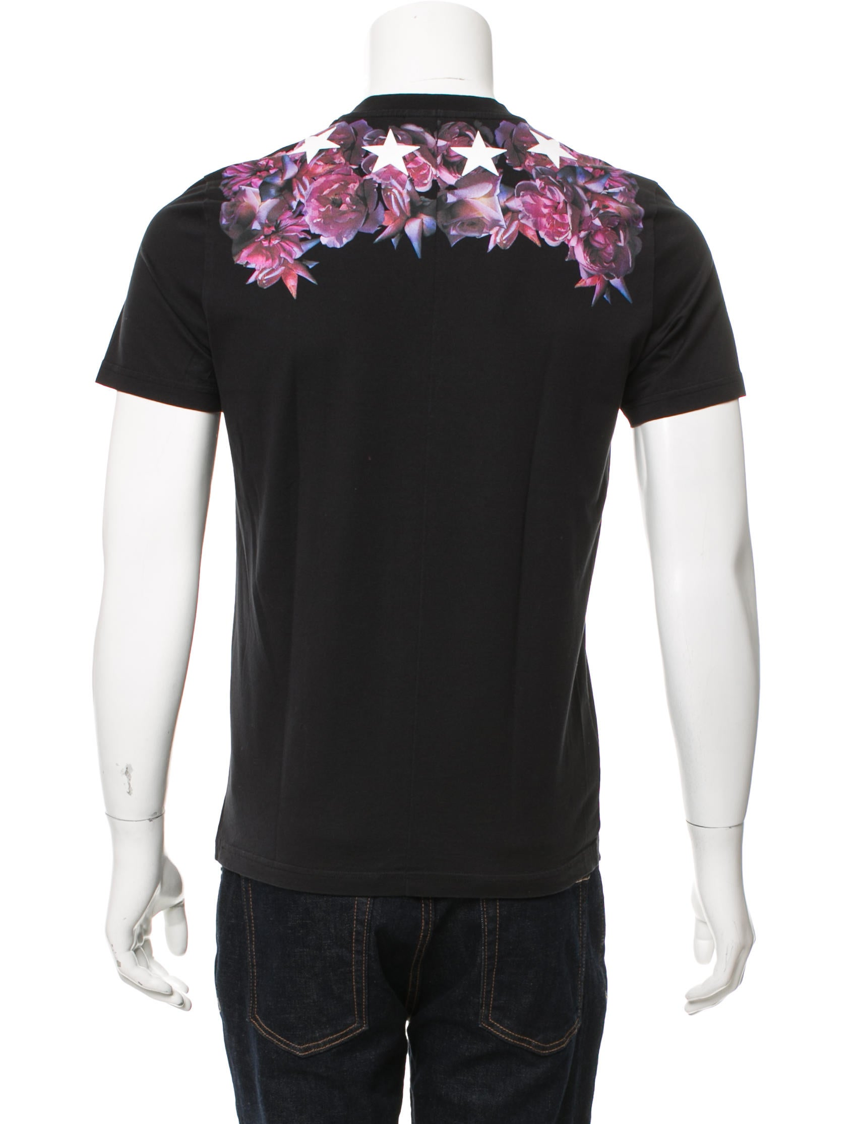 Givenchy roses stars print t shirt clothing giv46213 Givenchy t shirt price
