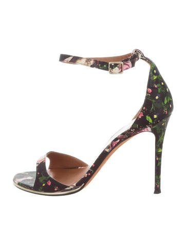 Givenchy Floral Ankle Strap Sandals clearance big sale yA77RB