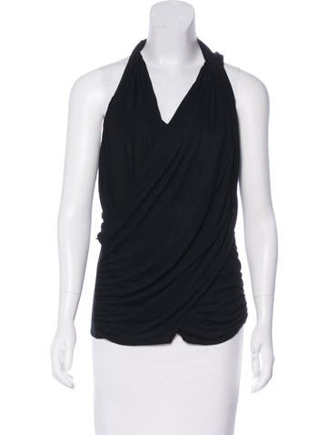 Givenchy Sleeveless Jersey Top None