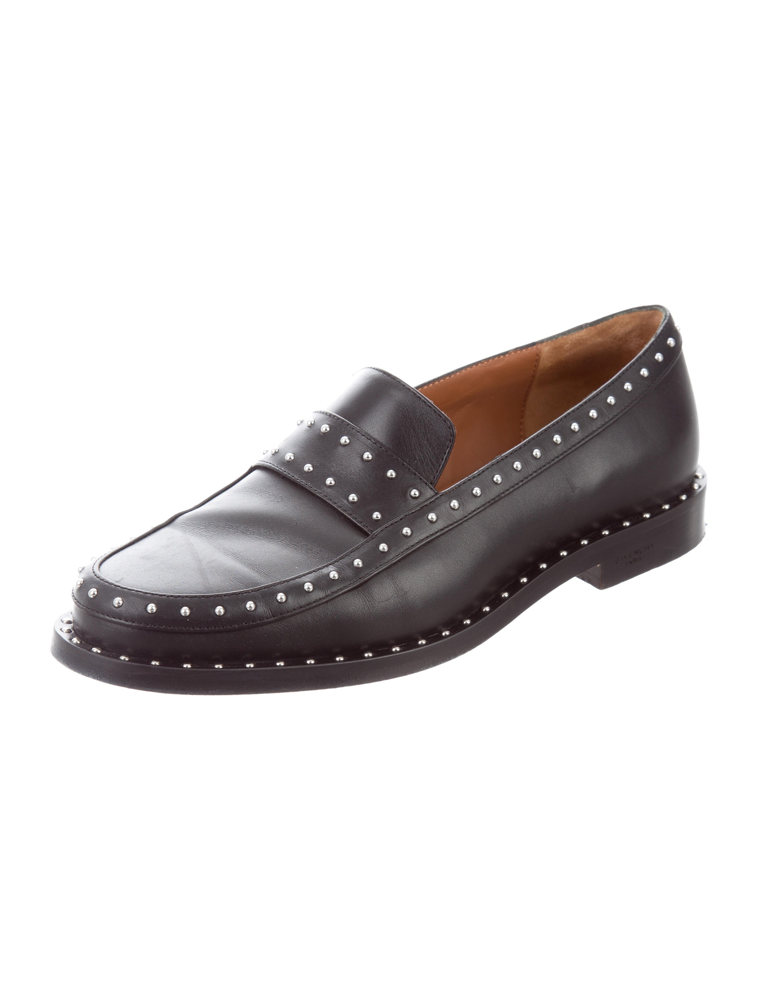 for sale footlocker Givenchy Leather Stud-Embellished Loafers free shipping with paypal Oqb6tPBlRa