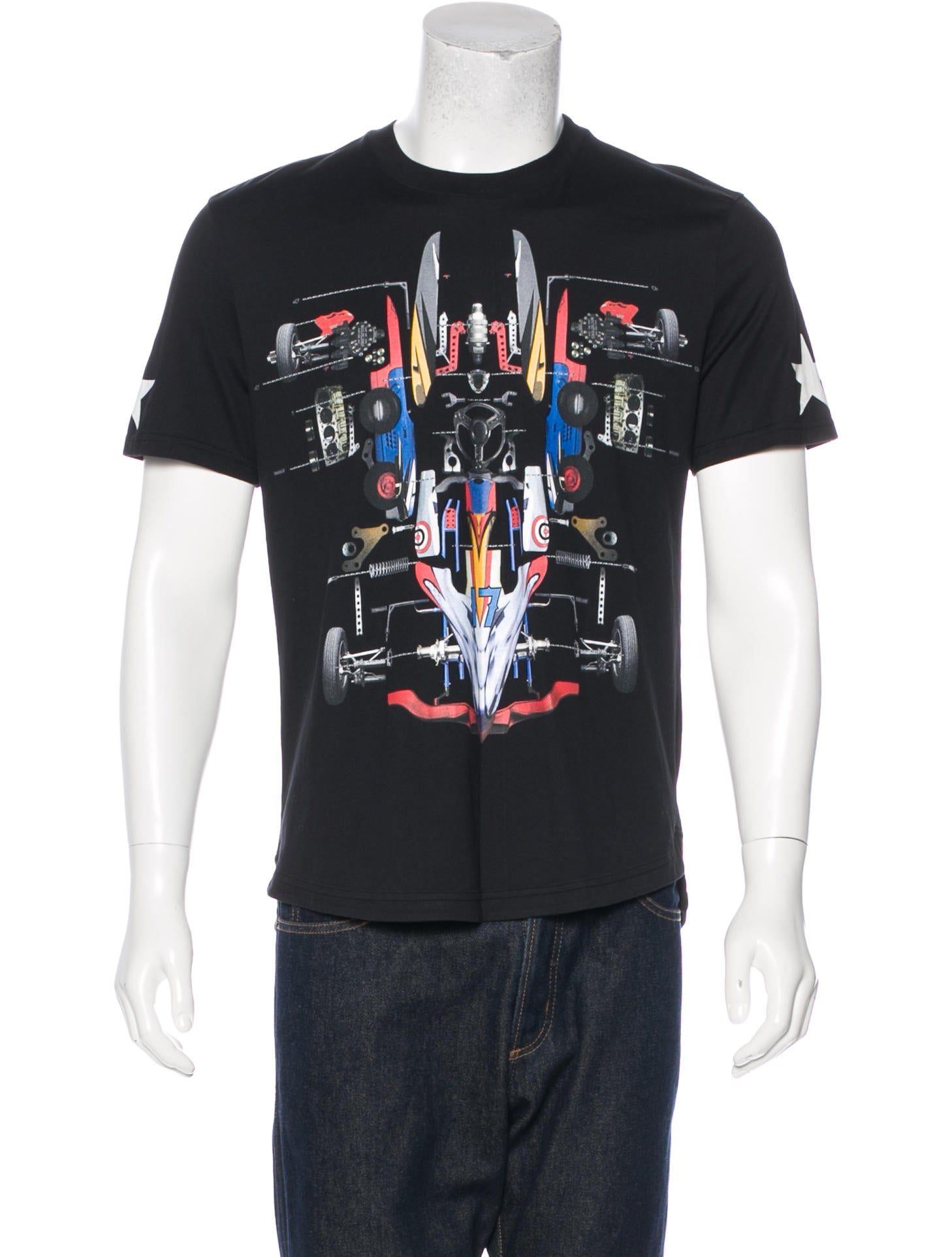 Givenchy racing car print t shirt clothing giv46713 Givenchy t shirt price