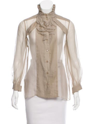 Givenchy Ruffled Button-Up Top None