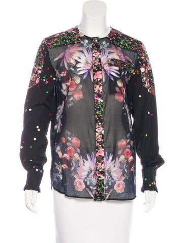 Givenchy Floral Button-Up Top None