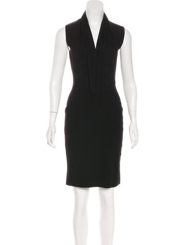 Givenchy Sleeveless Knee-Length Dress None