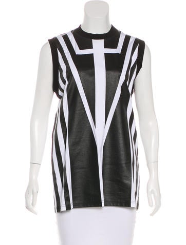 Givenchy Striped Sleeveless Top None