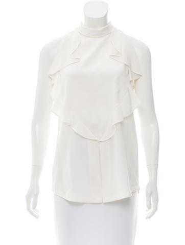 Givenchy Silk Sleeveless Top None