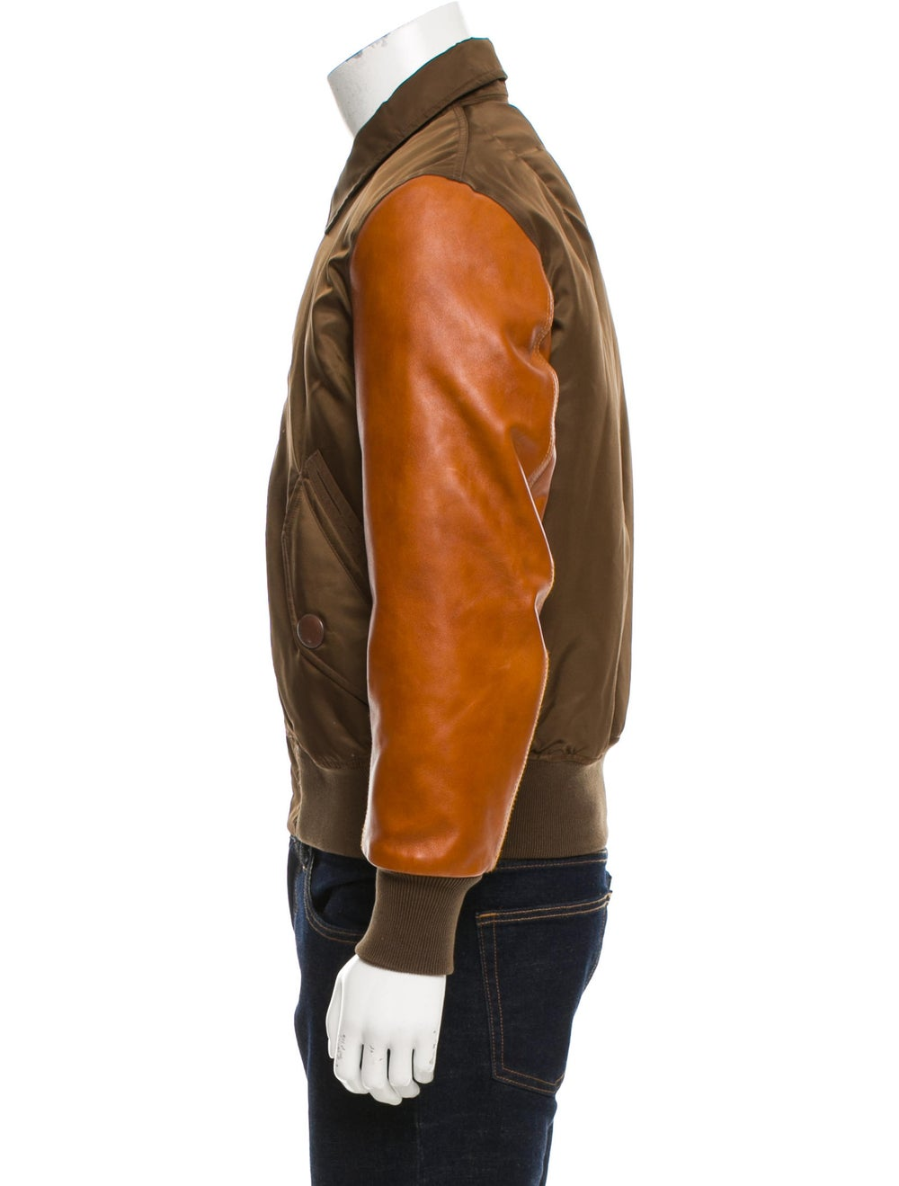 Givenchy Leather-Trimmed Flight Jacket olive - image 2