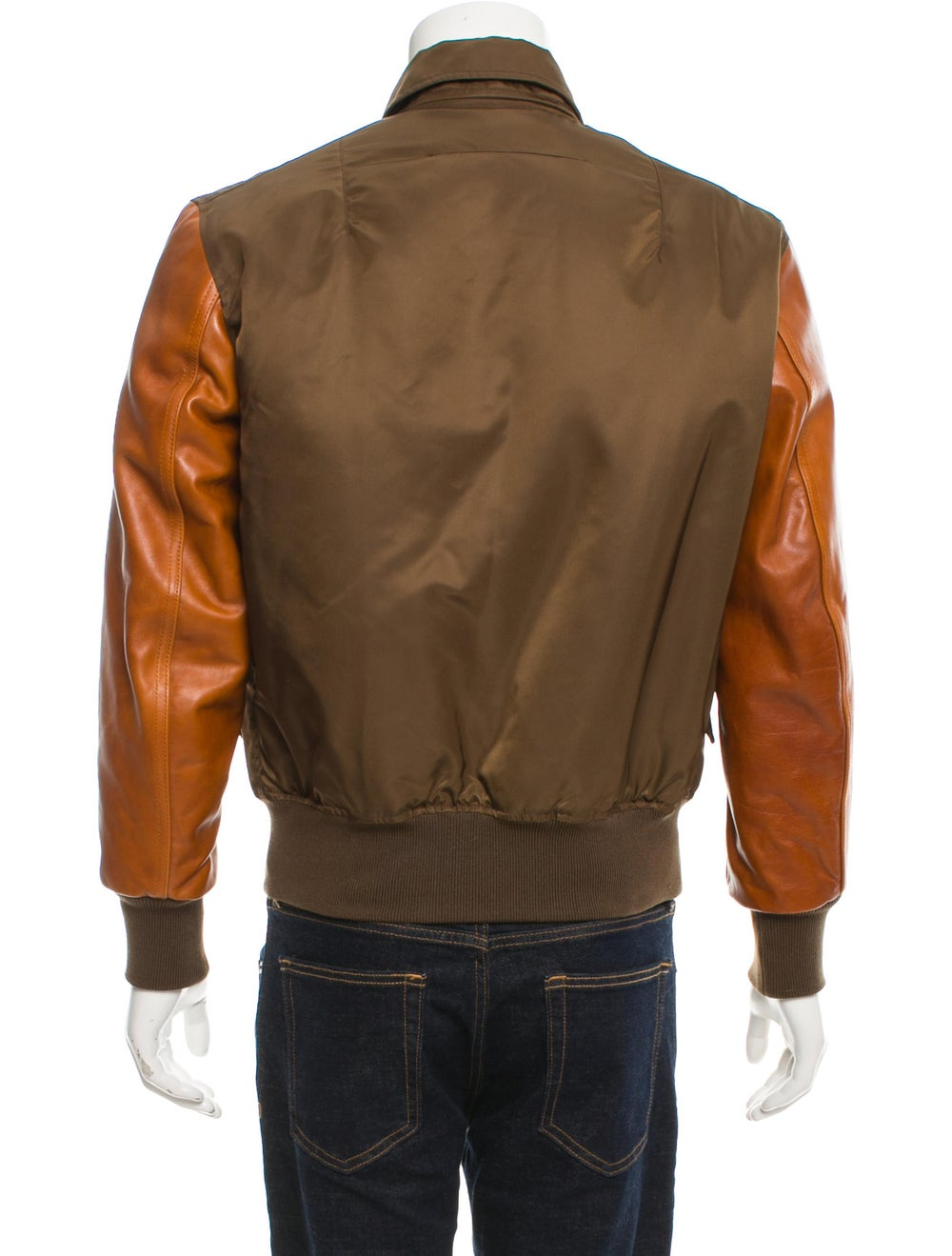 Givenchy Leather-Trimmed Flight Jacket olive - image 3