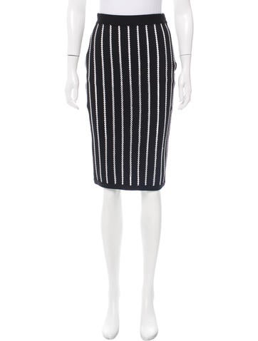 Givenchy Embroidered Knee-Length Skirt None