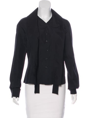 Givenchy Long Sleeve Button-Up Top None