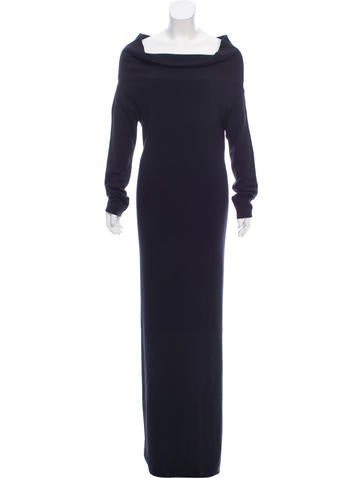 Givenchy Off-Shoulder Maxi Knit Dress None