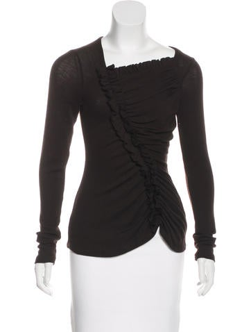 Givenchy Wool Long Sleeve Top None