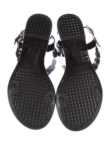 Chain-Link Ankle-Strap Sandals