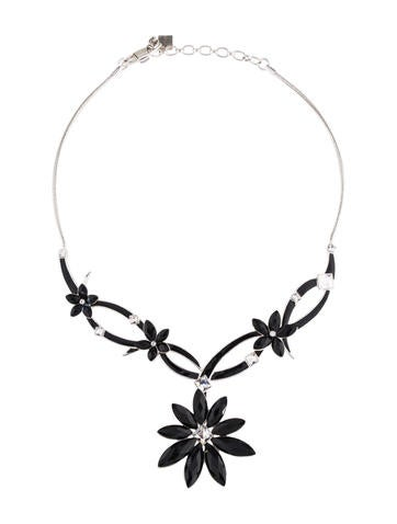 Crystal Floral Collar Necklace