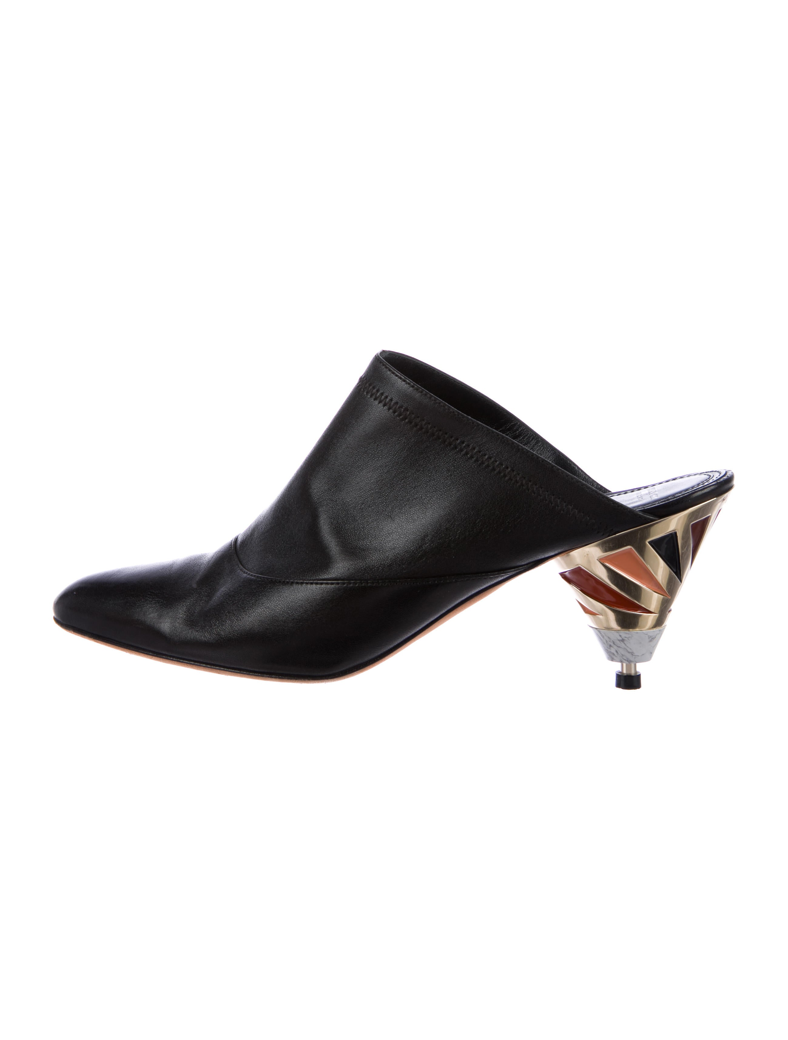 Givenchy Leather Pointed-Toe Mules free shipping 2015 with credit card sale online xkZYr