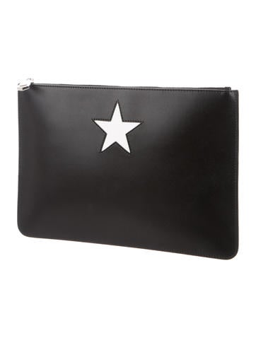 3eaff8a4ac Givenchy Iconic Smooth Leather Star Clutch - Handbags - GIV51387 ...
