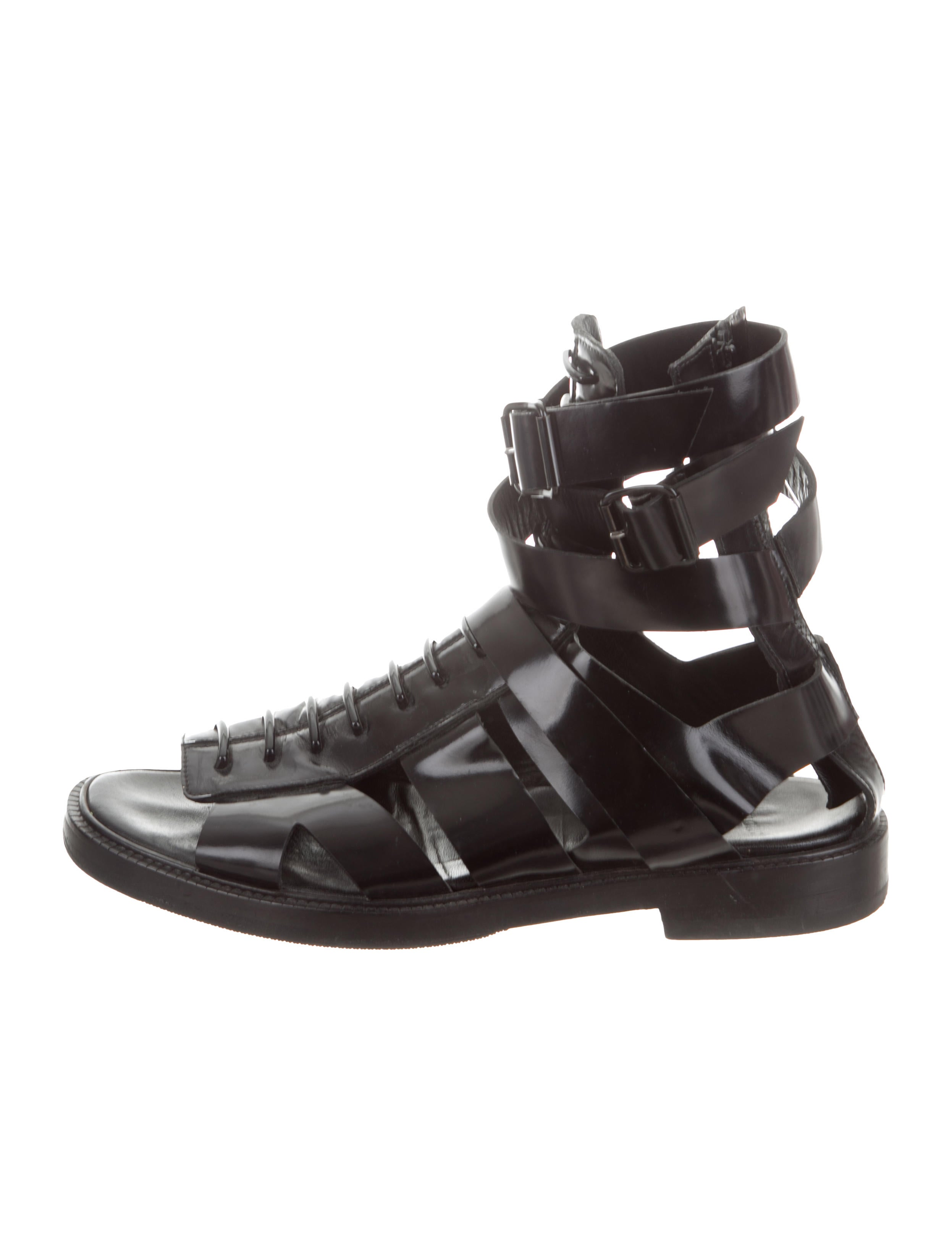 7f2f4244ab2c Givenchy Leather Gladiator Sandals - Shoes - GIV57890