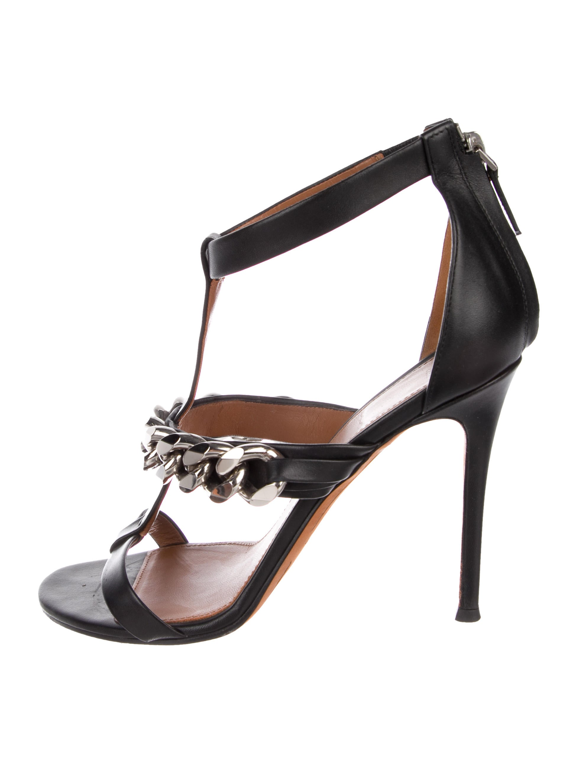 7aafd1e74472 Givenchy Leather Chain-Link Sandals - Shoes - GIV57967