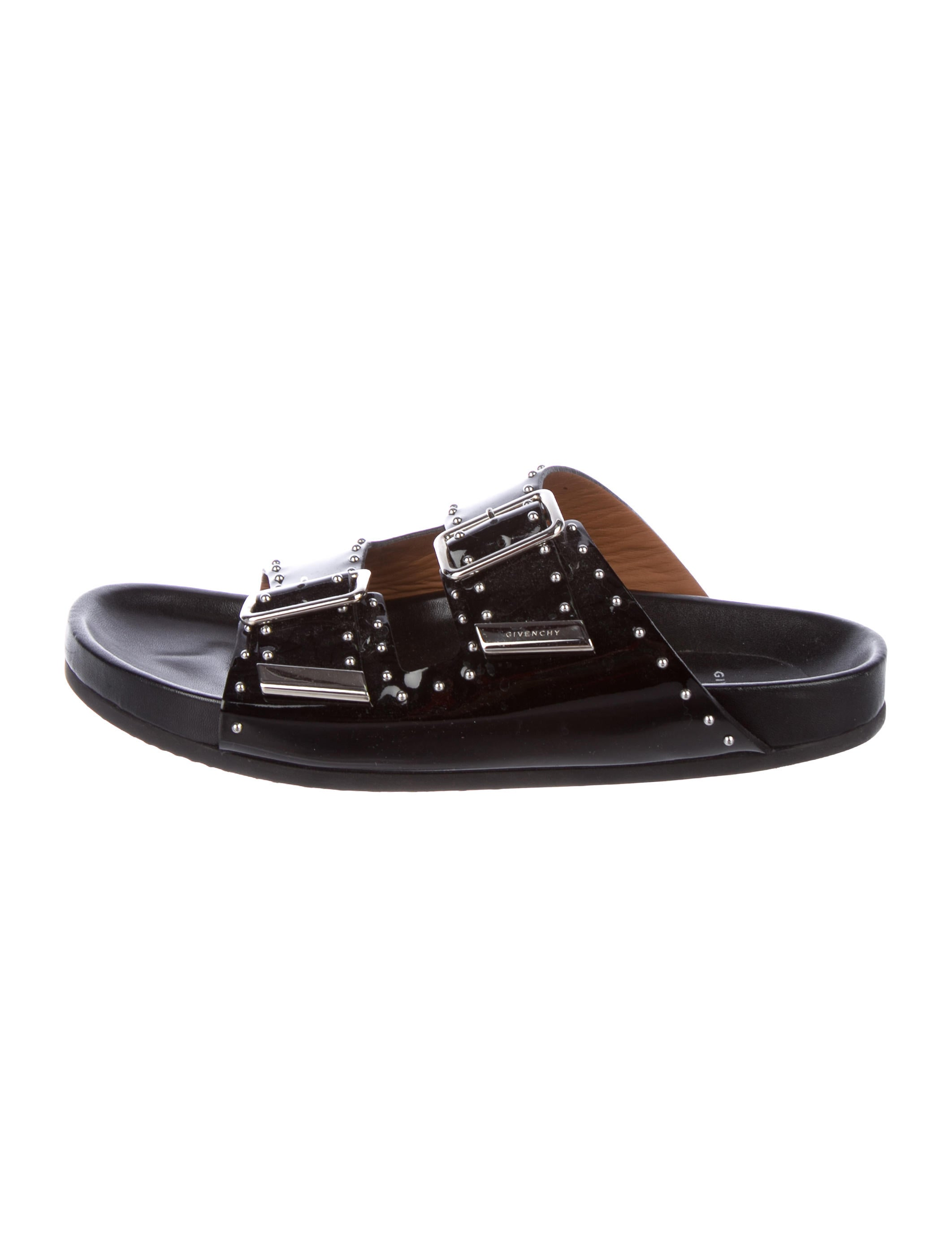 2ec286c80b6d Givenchy Studded Patent Leather Sandals - Shoes - GIV59008