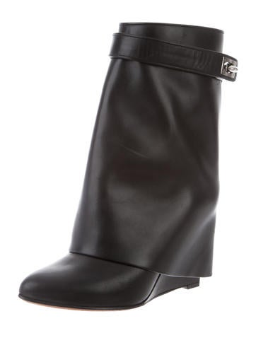 Givenchy. Leather Shark-Lock Boots 8c0651a09