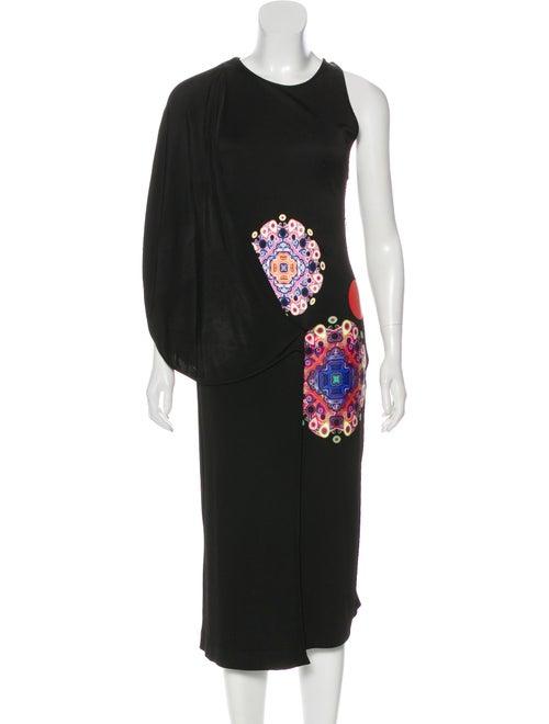 Givenchy Tiered Sleeveless Dress Black