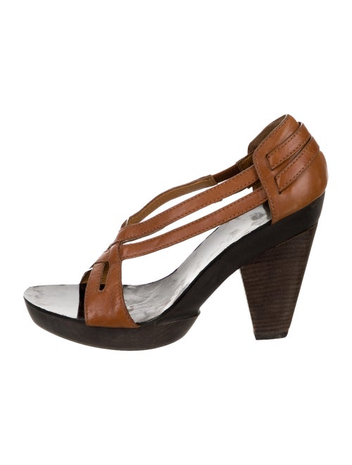Givenchy Strappy Block-Heel Sandal Brown
