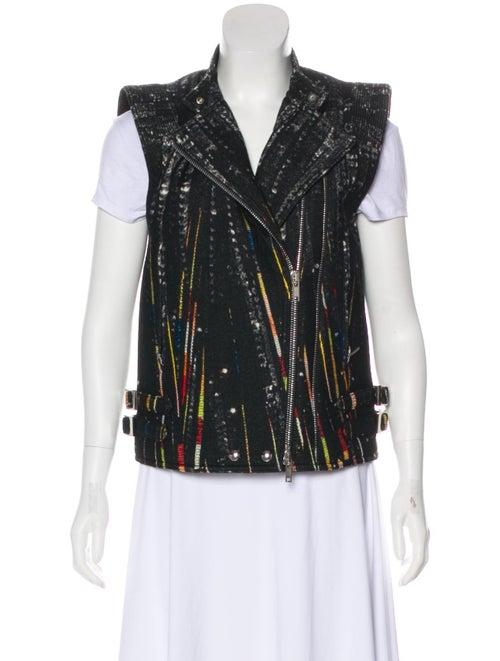Givenchy Wool Printed Vest Black