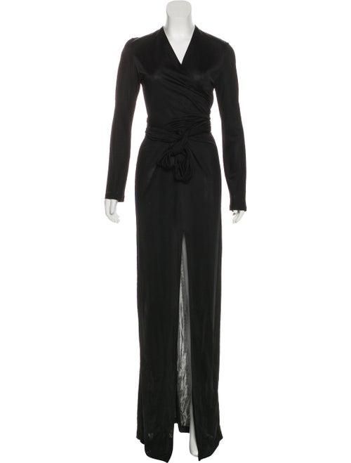 Givenchy Long Sleeve Evening Dress Black