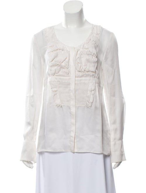 Givenchy Silk Long Sleeve Blouse