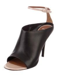 Leather Peep-Toe Pumps image 2