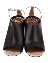 Leather Peep-Toe Pumps image 3