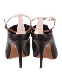 Leather Peep-Toe Pumps image 4