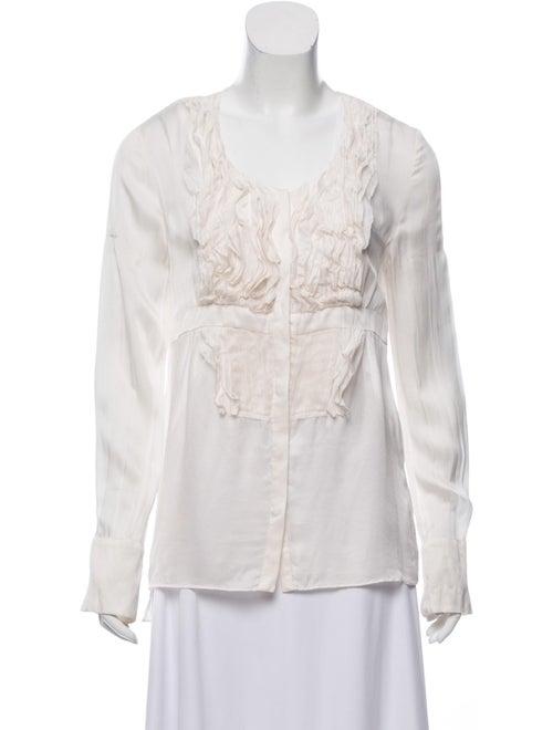 Givenchy Silk Long Sleeve Blouse - image 1