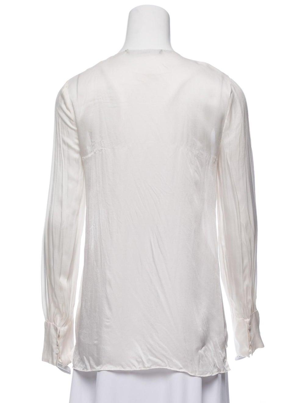 Givenchy Silk Long Sleeve Blouse - image 3